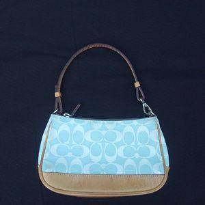Blue Coach Wristlet/Mini Bag